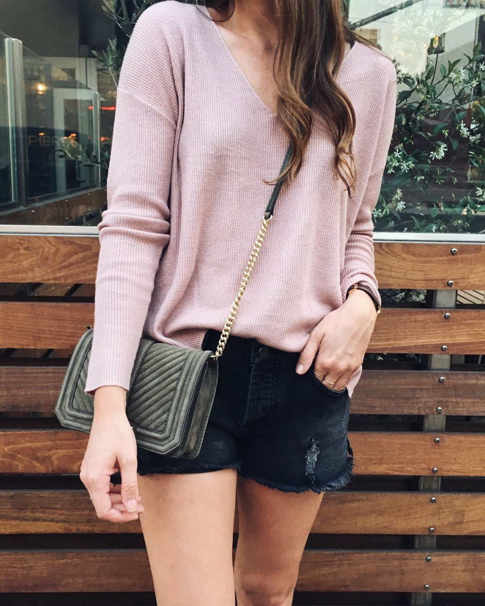 BP Sweater  |  Halogen Flats  |  DSTLD Shorts  c/o (get 10% off with code GIRLMEETSGOLD)