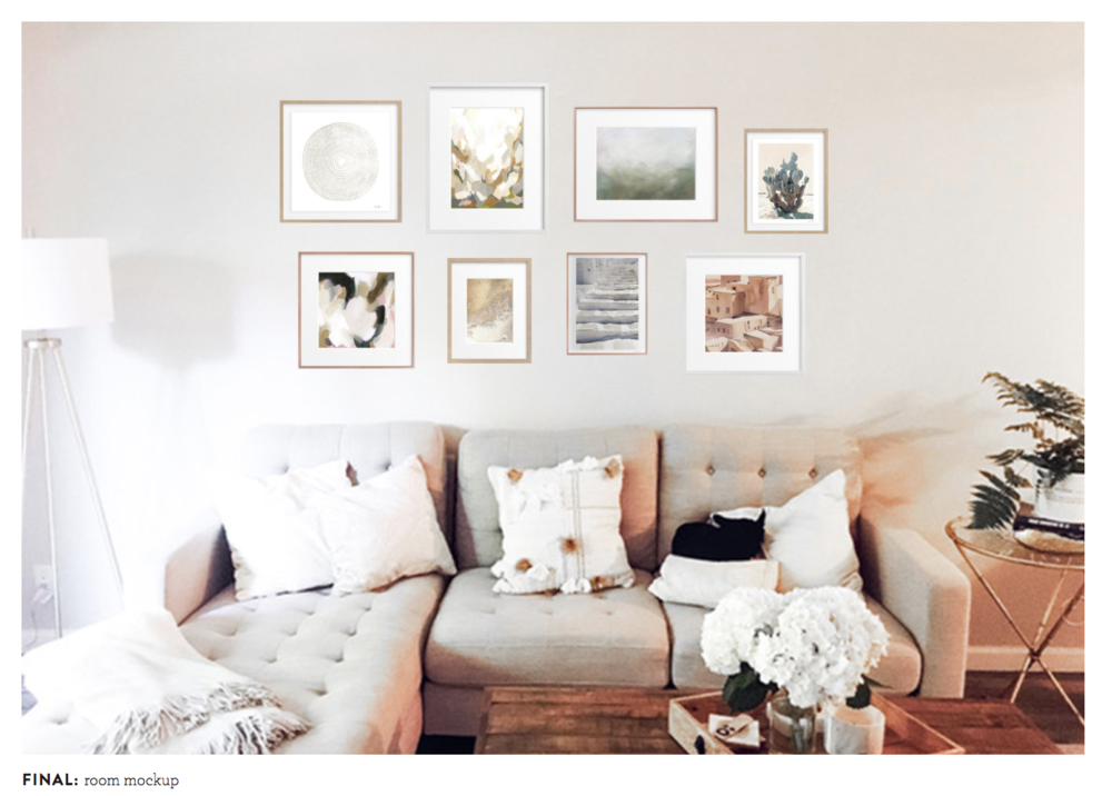 Minted Art Styling Room Mockup