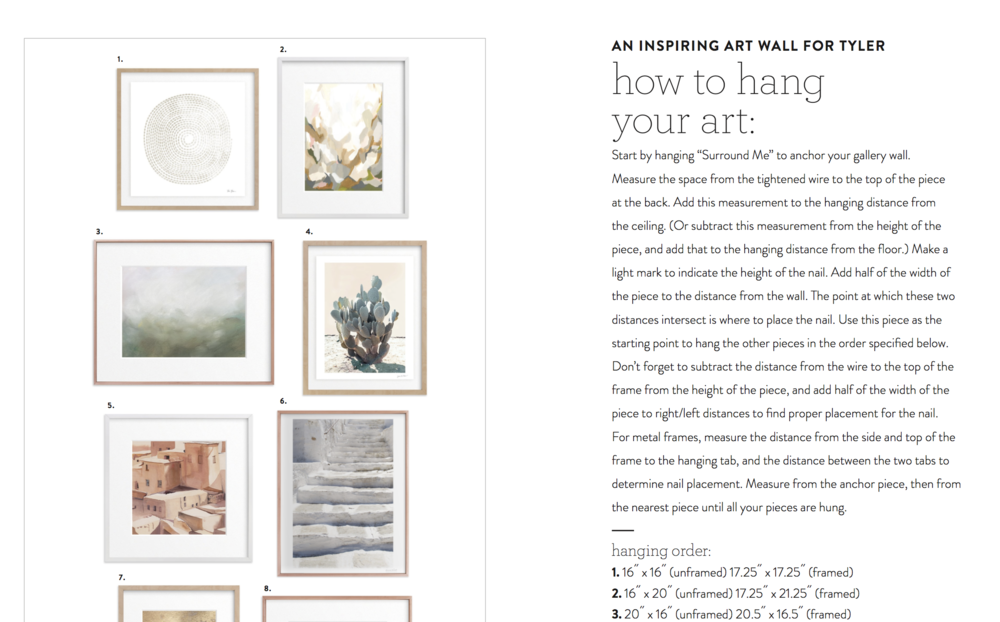 Minted Art Styling Hanging Instructions