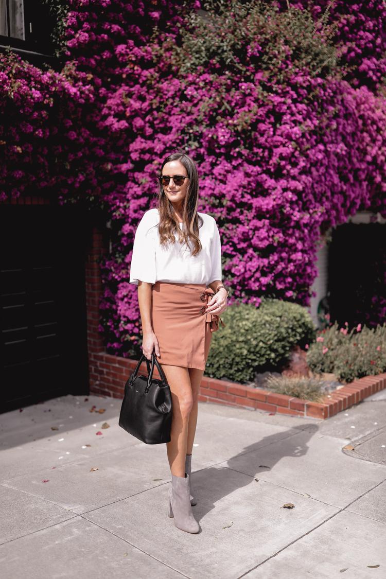 Pink wrap miniskirt