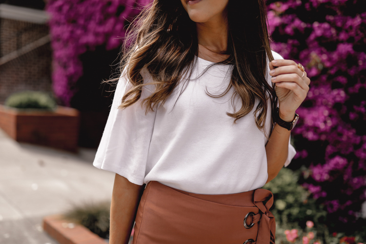 Wrap miniskirt