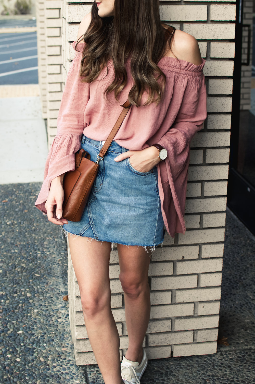 bell sleeve off the shoulder