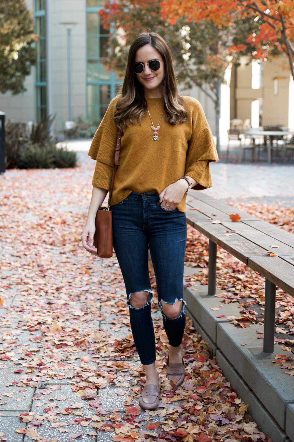 Mustard Sweater for Fall