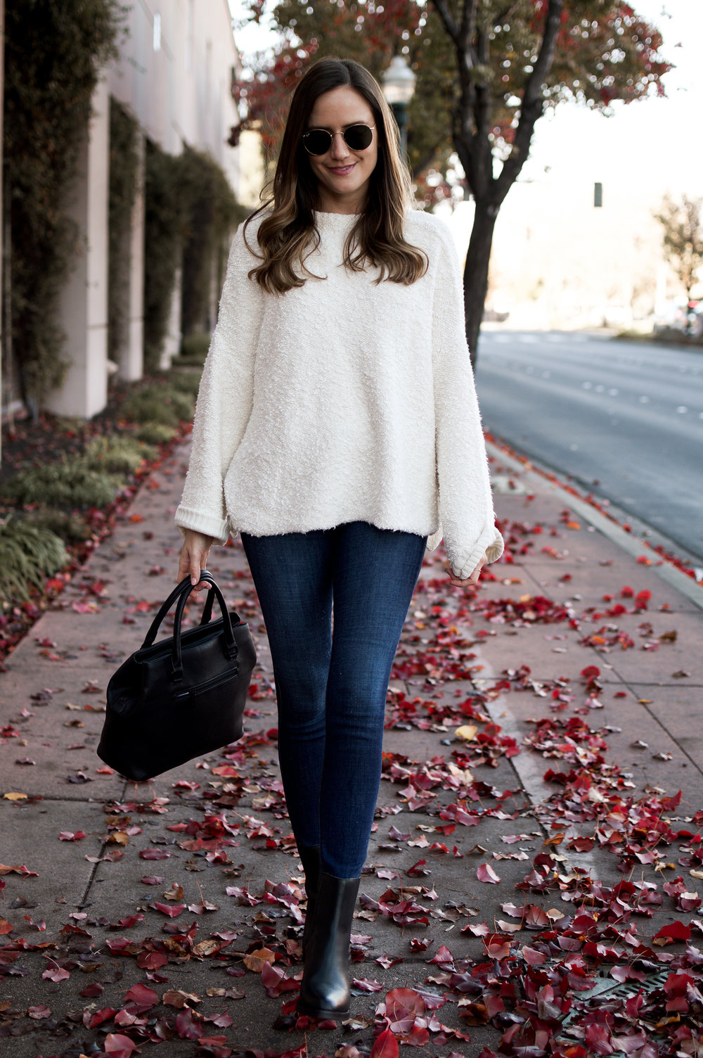 Shop the Look Below.  Free People Sweater  |  Joe's Jeans  |  UGG Boots  |  Ray-Ban Sunglasses