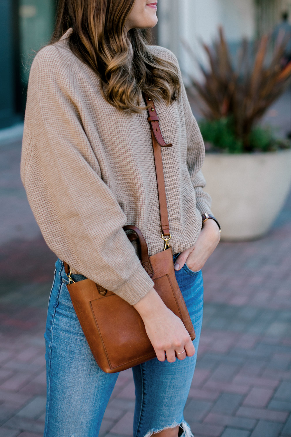 camel sweater outfit
