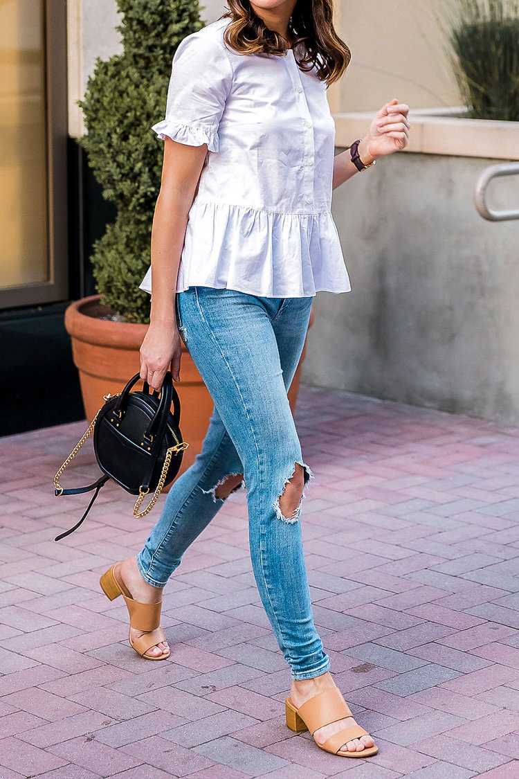 cc01577778275f There's nothing I love more than a crisp white top and this one from  Madewell is the perfect blend of classic, effortless and feminine.