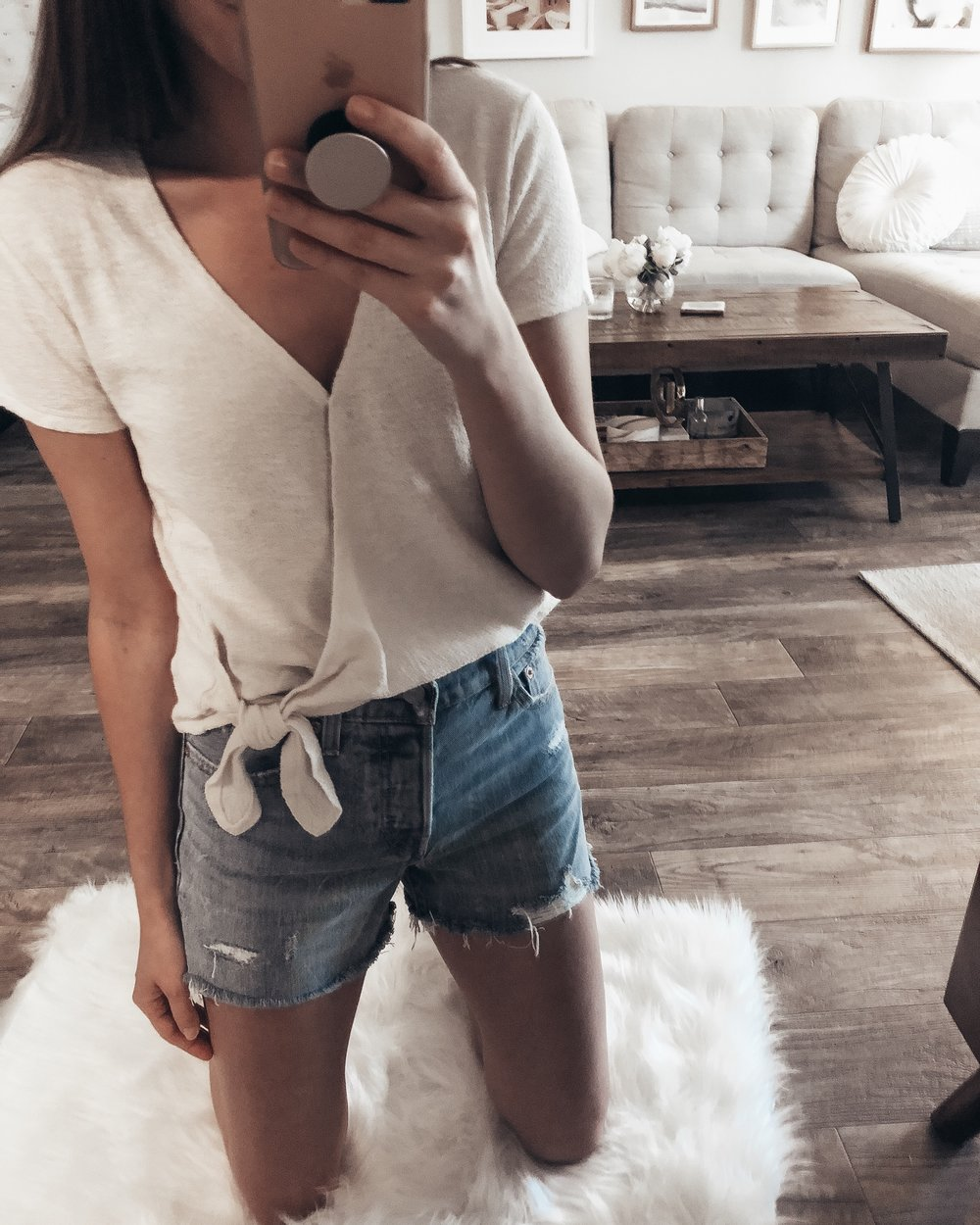 this effortless wrap tee