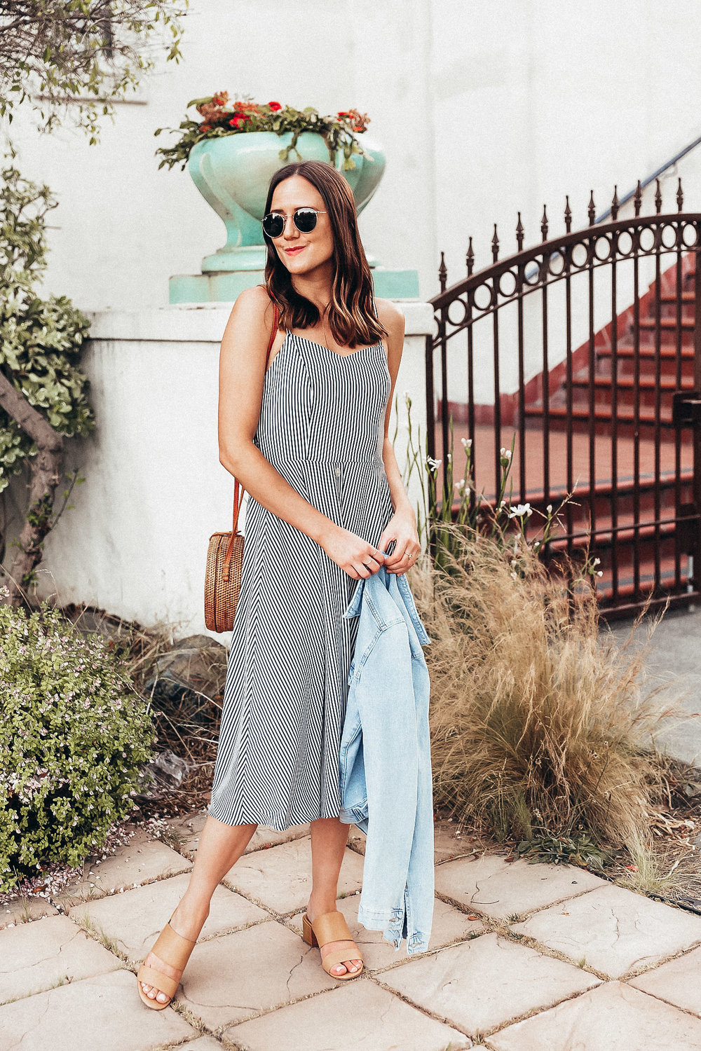 The Details:  Vici Dress     Madewell Heels     H&M Jacket     Ray-Ban Sunglasses     Madewell Pavé Ring