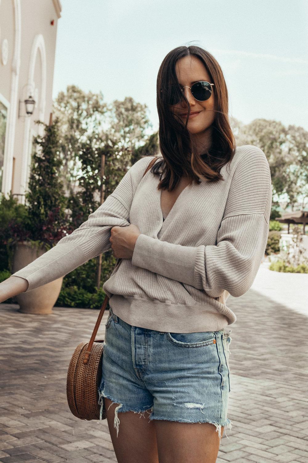 summer wrap sweater