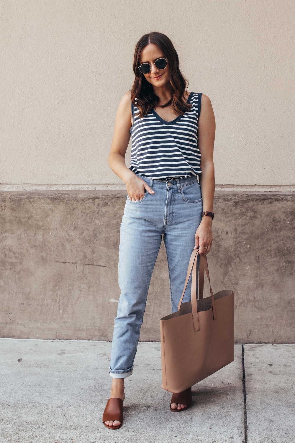 everlane striped tank
