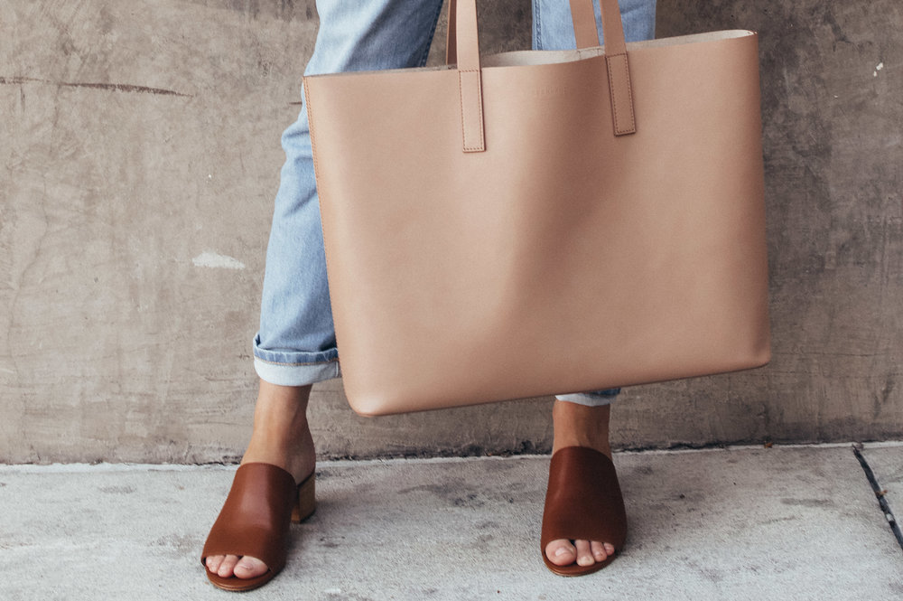 everyday neutral tote