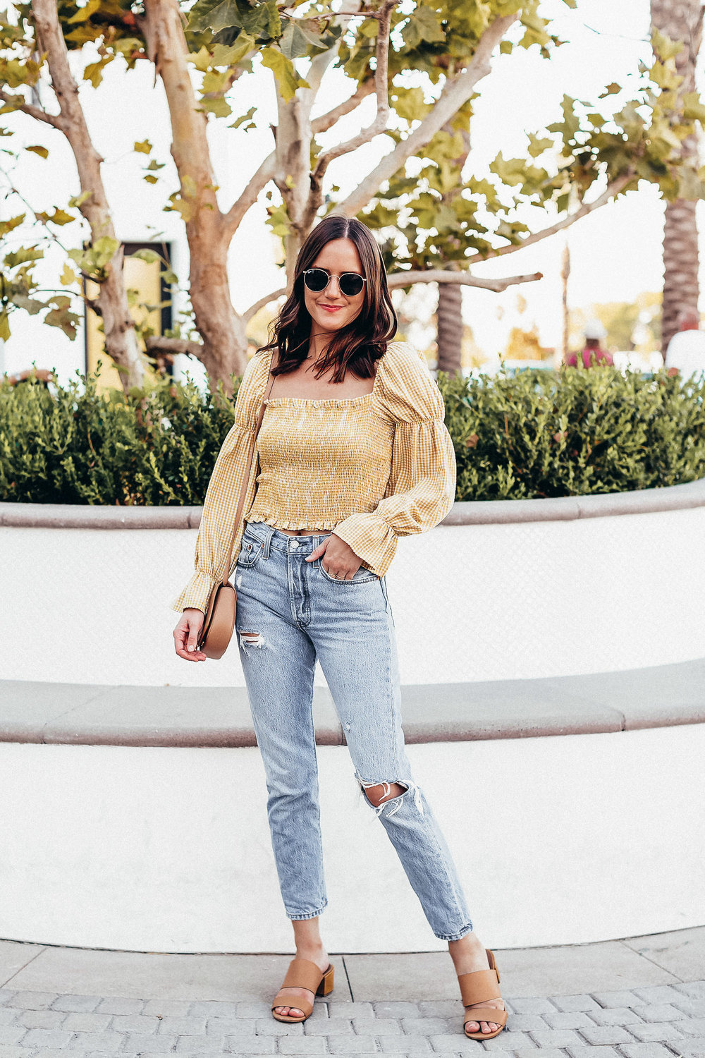 Shop the Look Below.  Urban Outfitters Top  |  Levi's Jeans  |  Madewell Shoes  |  See By Chloe Bag