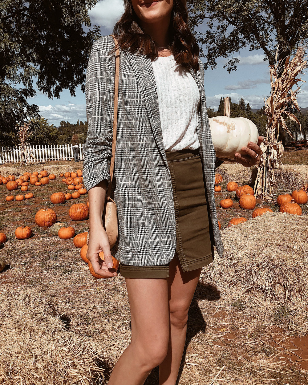 plaid fall blazer
