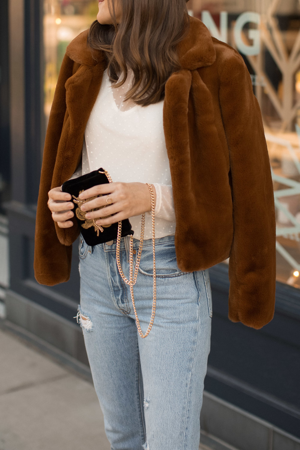 faux fur holiday style