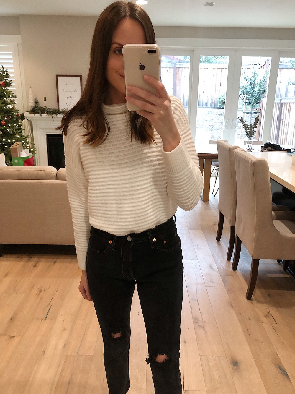 Trunk Club Review | white mockneck sweater