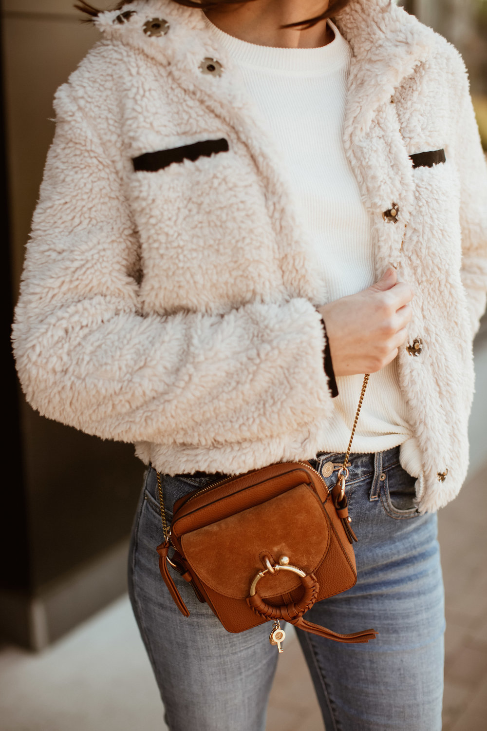 casual style faux shearling jacket