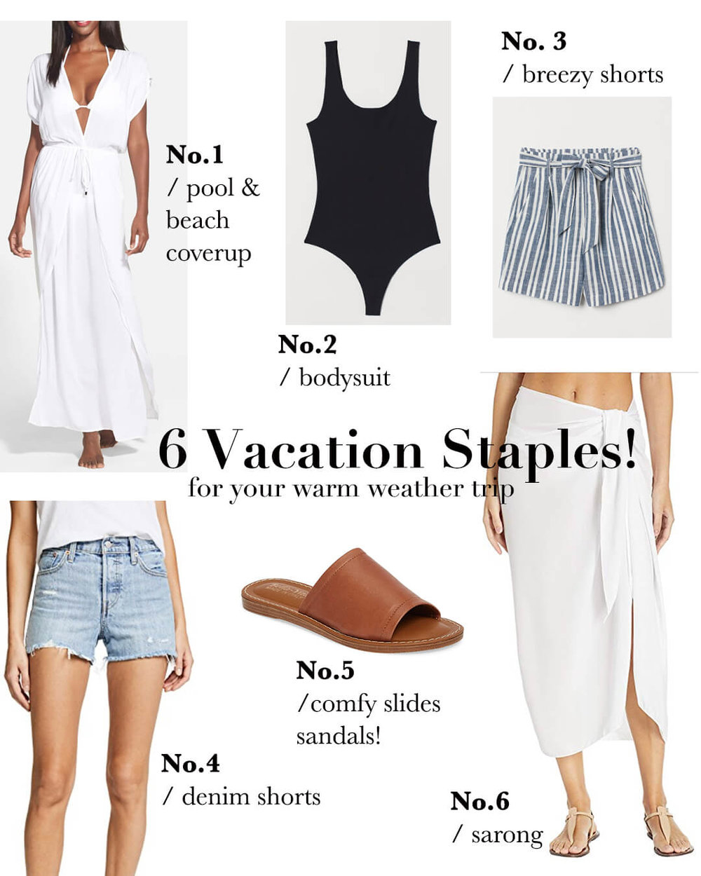6 Classic Vacation Staples | www.girlmeetsgold.com