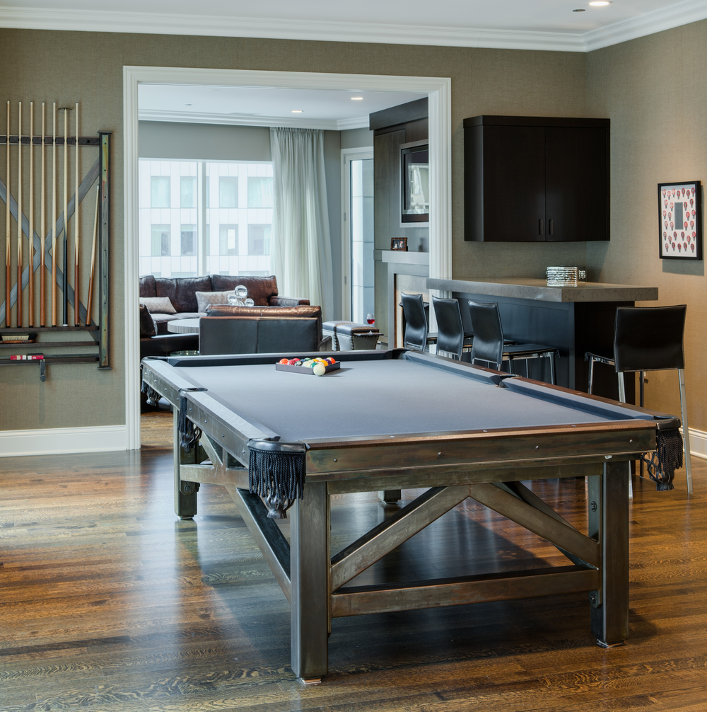 Bachelor Pad Jamie Schachtel Design Group - Pool table pad