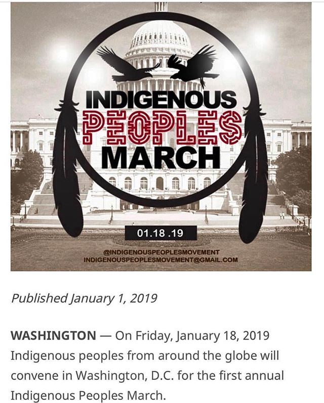 Please come show support to our indigenous people, come here the true history, not his story because we never left!!!🙏🏽#neoglyphix #indigenous #apache #indigenouspeople #march #washingtondc #love #support #voiceyouropinion #2019