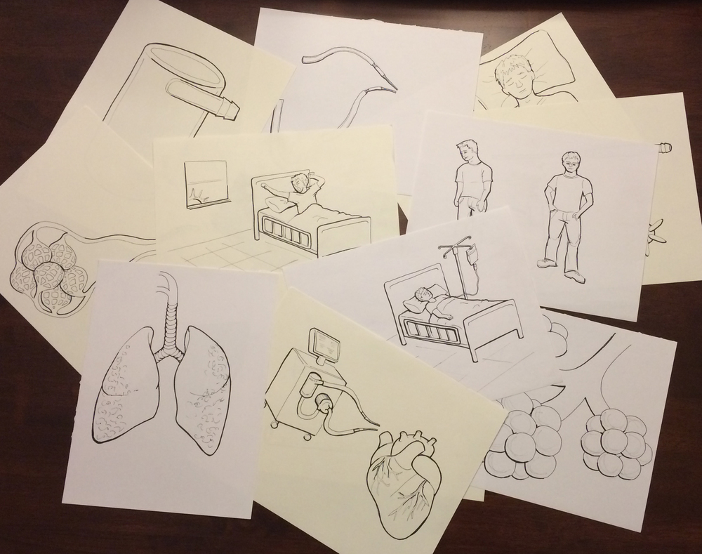 Sketches used in final animation