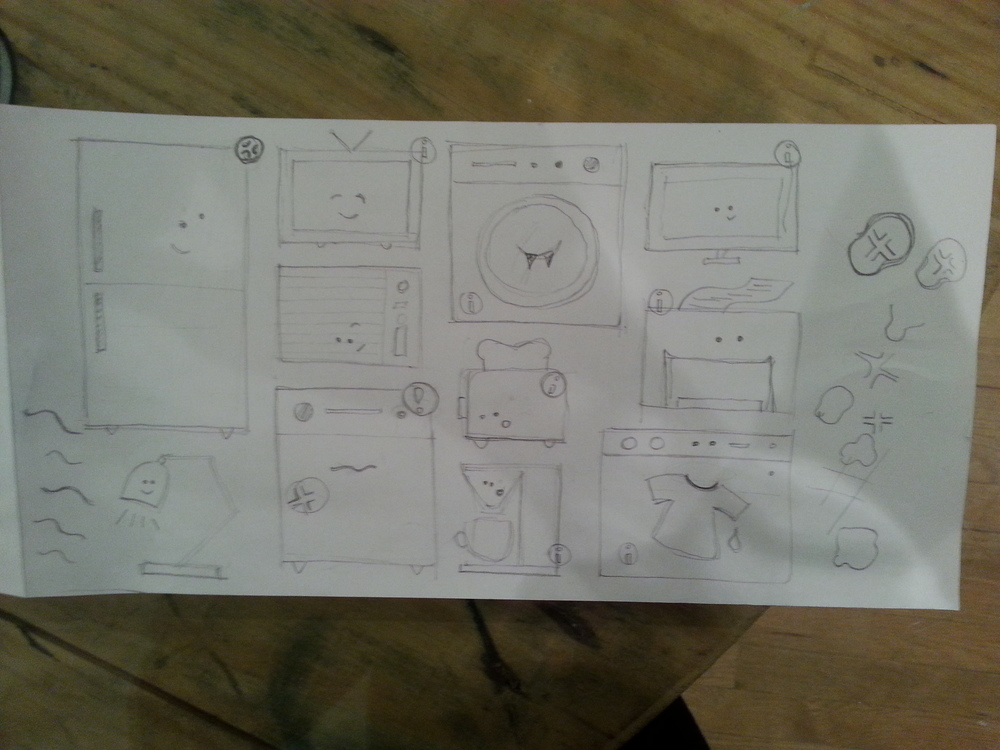 first sketch of appliances