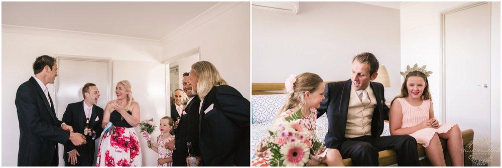 Groom & Family Getting Ready Rockingham Wedding