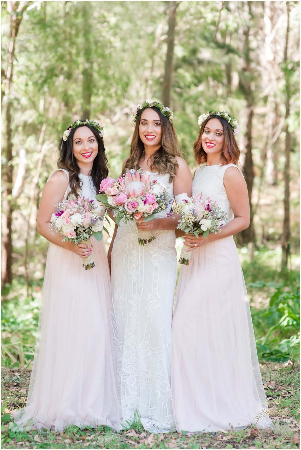 Bride & Bridesmaids Pastel Florals Margaret River Wedding