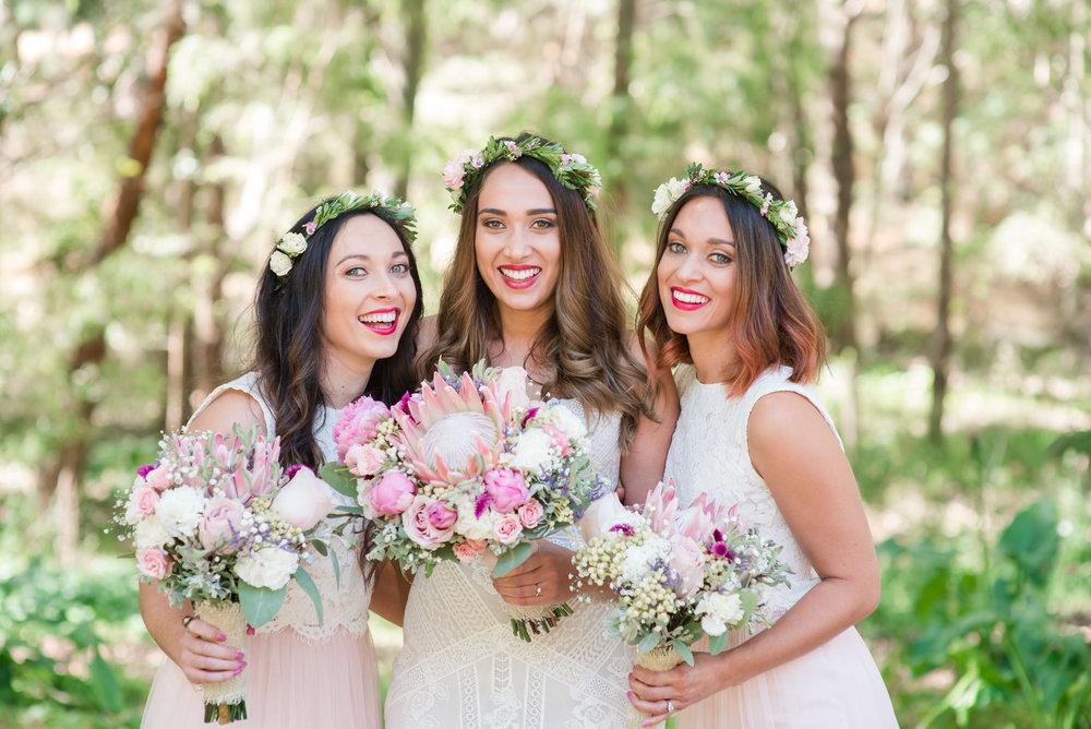 Bride and Bridesmaids Margaret River Wedding