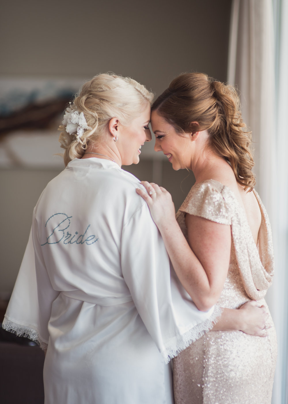 Bride and Bridesmaid Sebel Hotel Mandurah