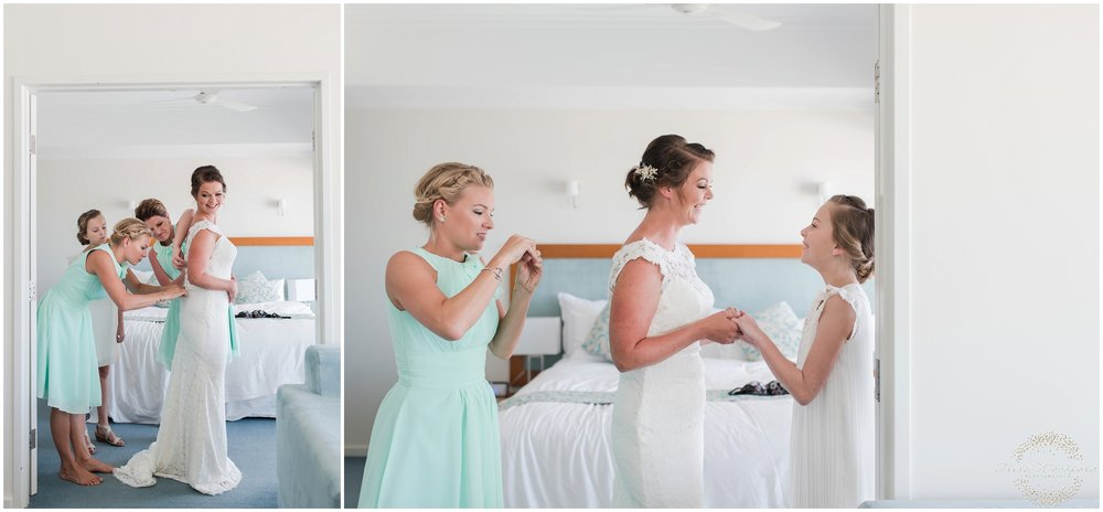 BrideGettingReadySeashellsResortMandurah