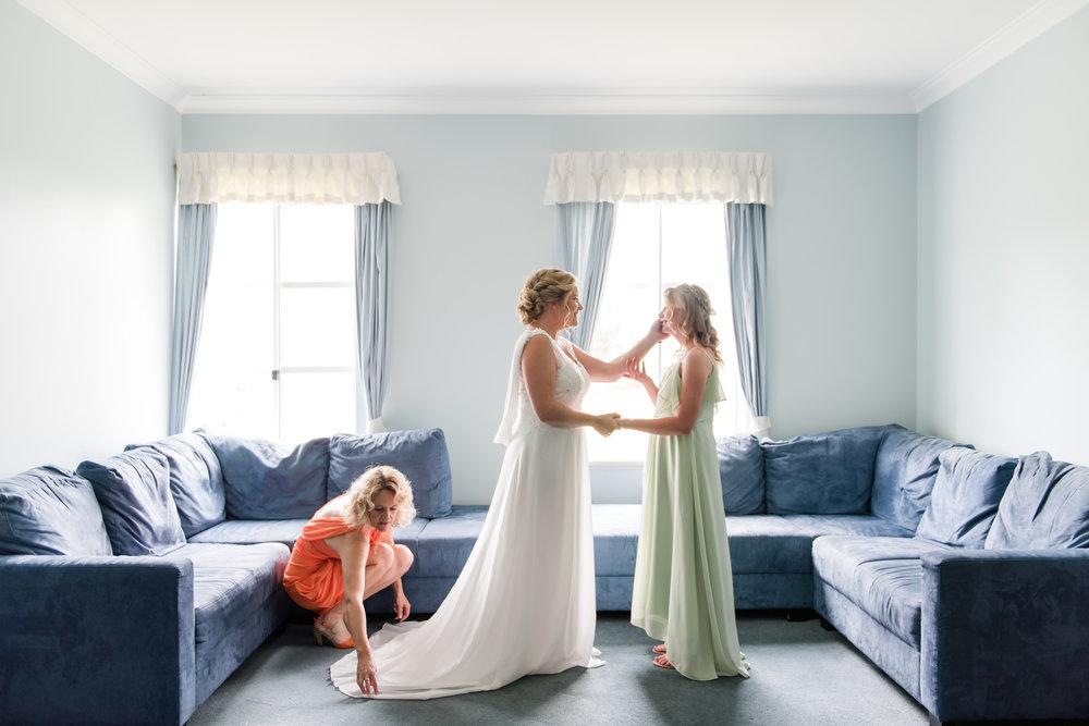 Bride Getting Ready Peel Manor House