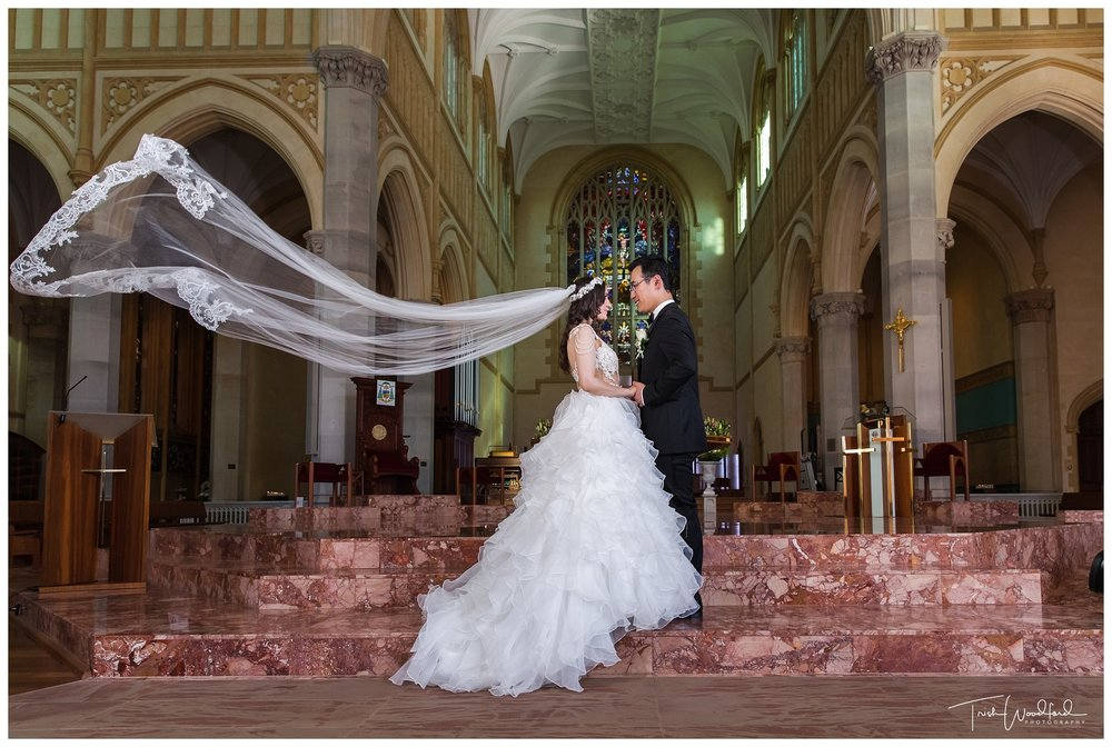 St Mary's Cathedral Perth Wedding Portrait