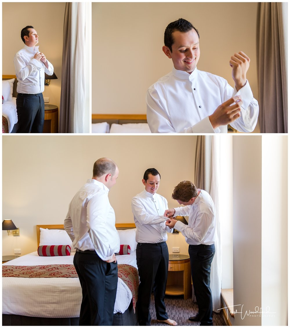 Groom Getting Ready Duxton Perth