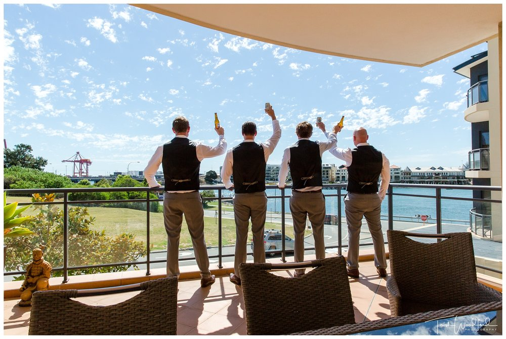 Groomsmen East Fremantle Wedding