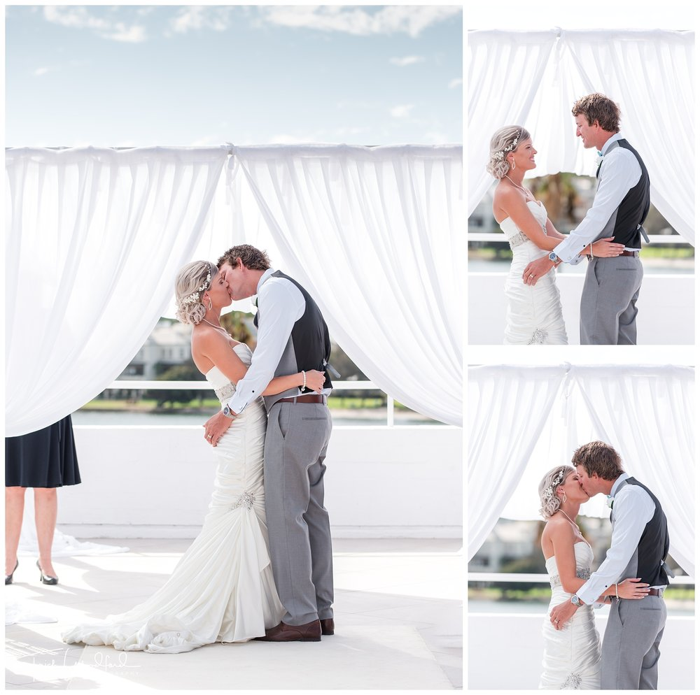 Wedding Ceremony Kiss Tradewinds Hotel