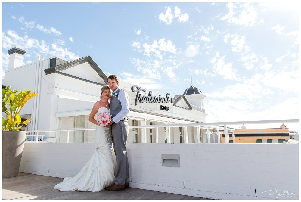 Tradewinds Hotel Wedding Photo