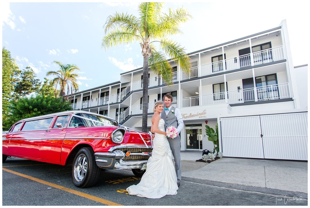Red Vintage Wedding Limo Fremantle