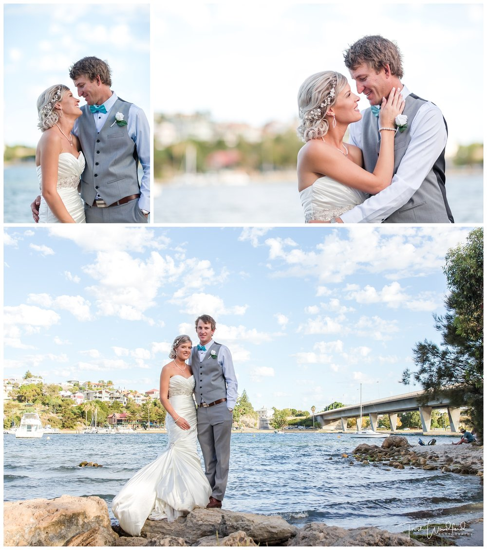 Bride and Groom East Fremantle Wedding