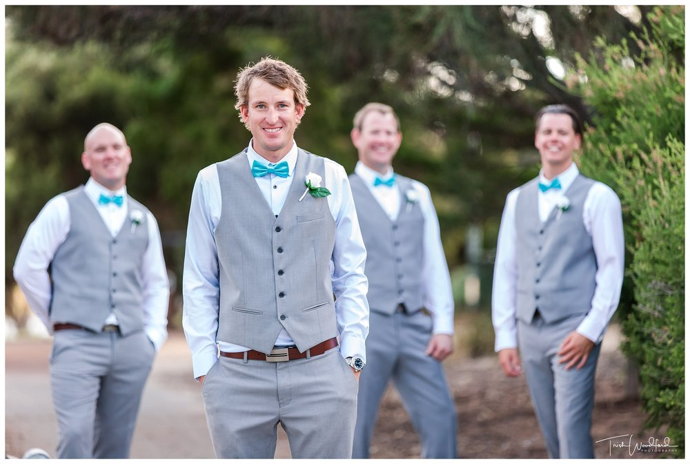 Groom and Groomsmen Fremantle Wedding