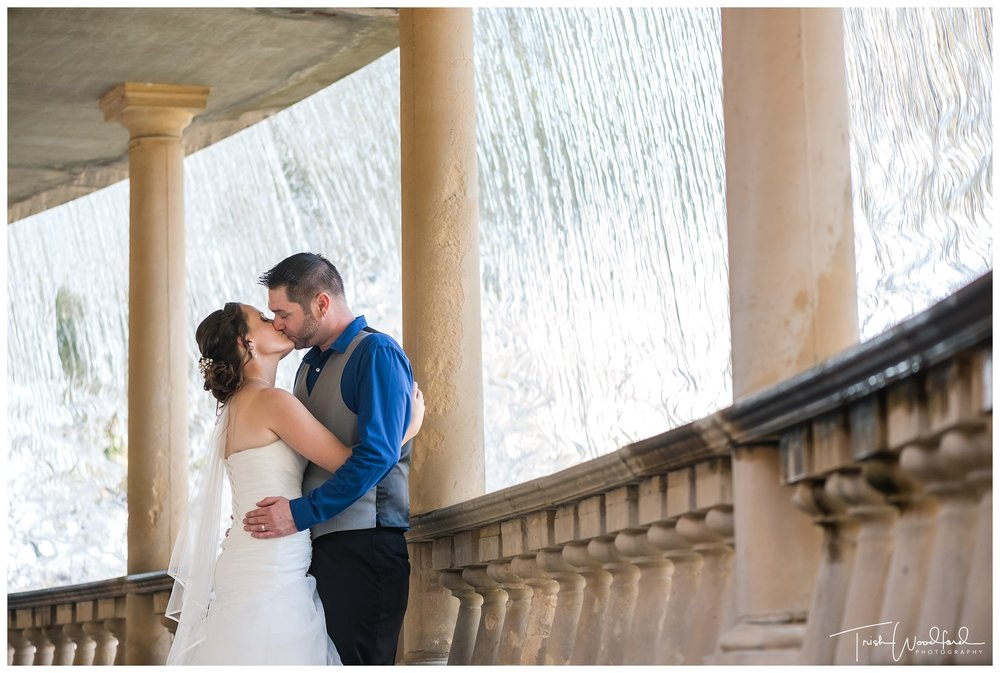 Caversham House Waterfall Bride and Groom