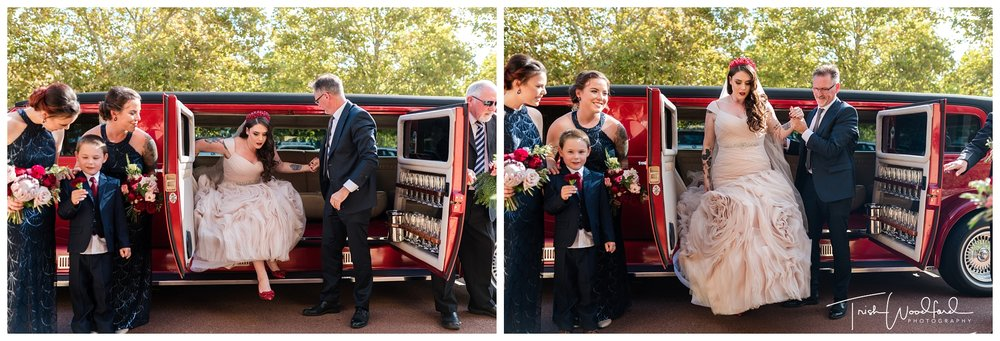 Sandalford Wedding Red Limo