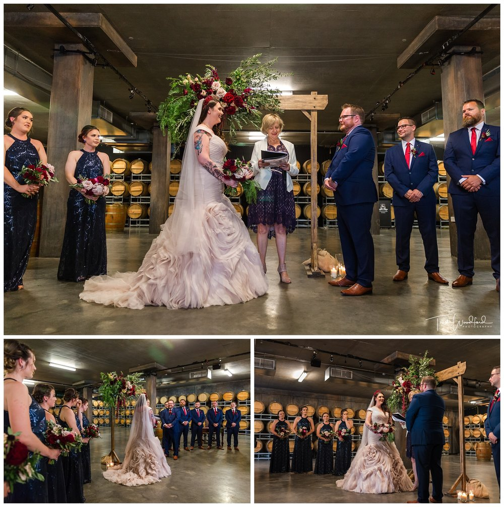 Sandalford Cellar Wedding Ceremony