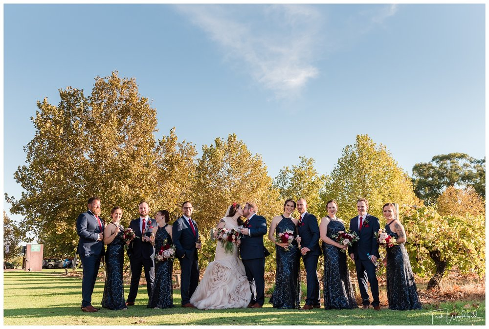 Sandalford Wedding Bridal Party Photo