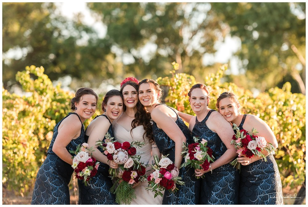 Sandalford Wedding Bride and Bridesmaids