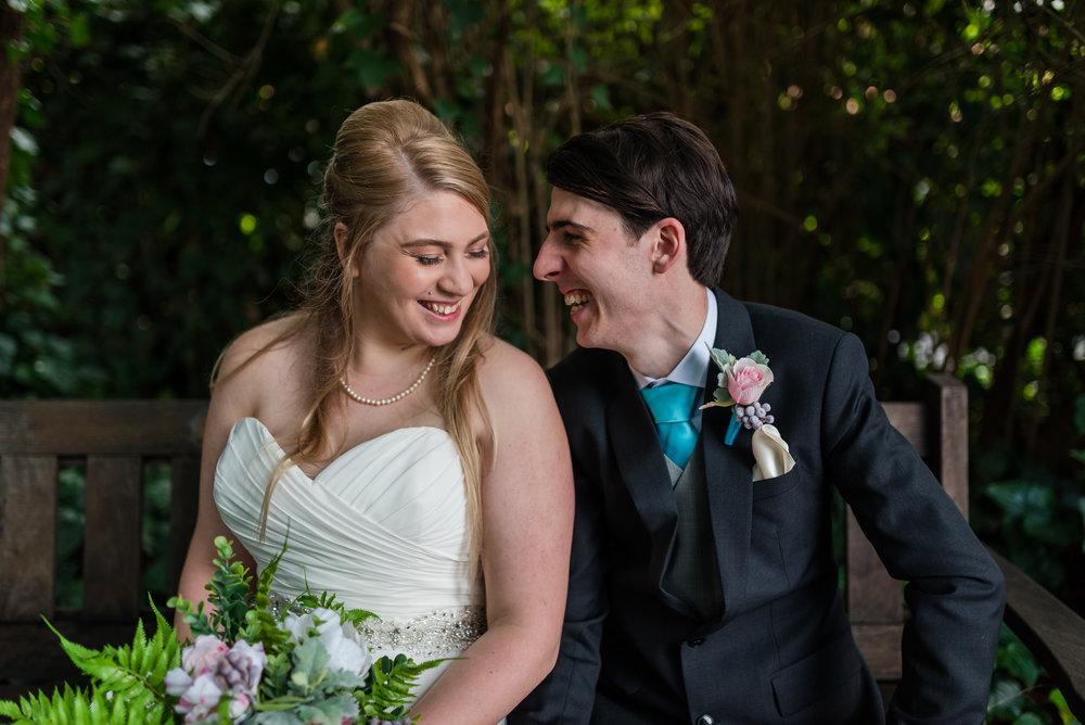 Bride and Groom Portrait Wanneroo Botanic Gardens