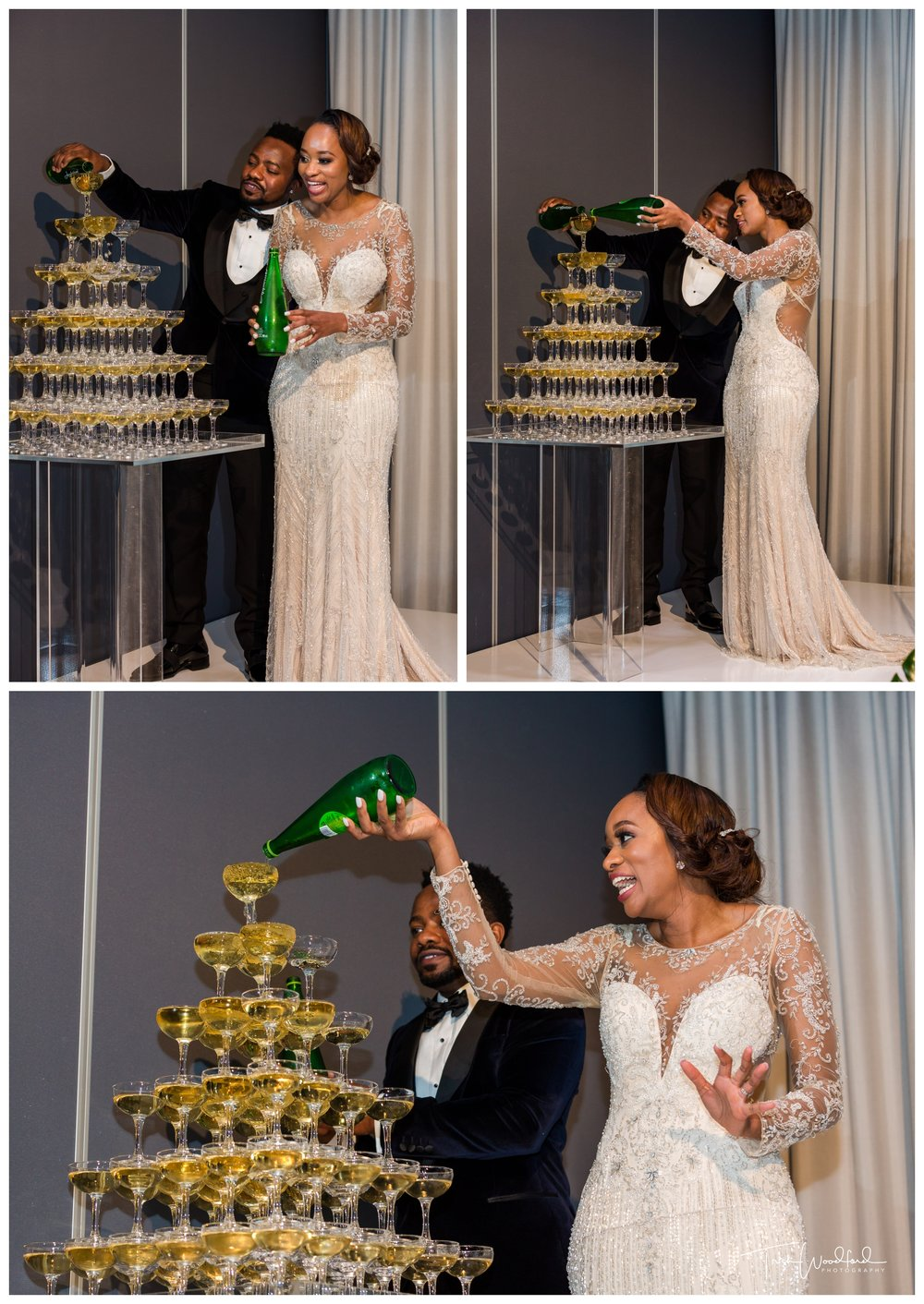 Champagne Tower Perth Wedding Reception