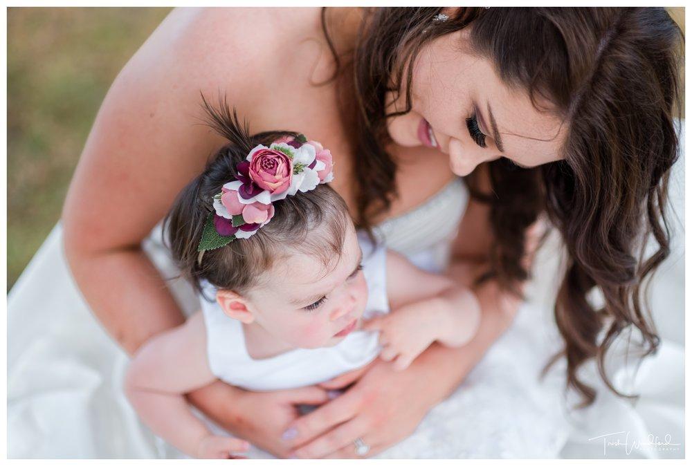 Bride and Flowergirl Rockingham Wedding