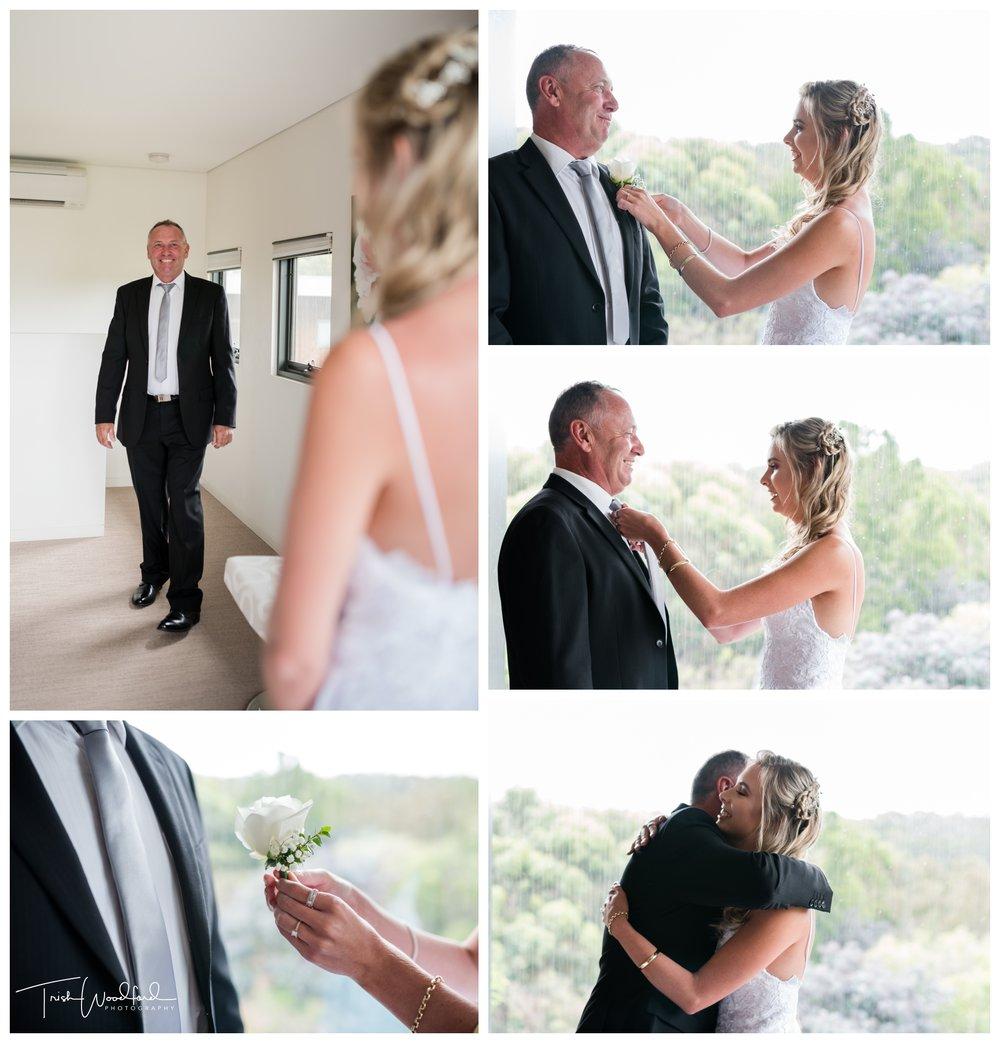 Bride and Dad Yallingup Wedding