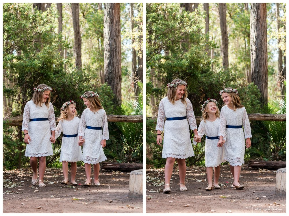 Flowergirls Nanga Bush Camp Wedding