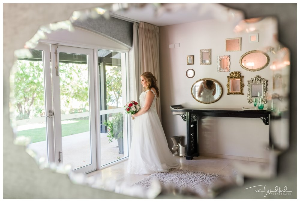 Bride at Aravina Estate Wedding